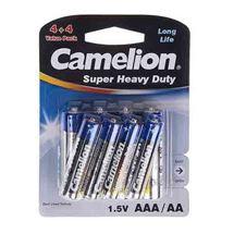 پک 8 تایی باطری قلمی و نیم قلم کملیون Camelion Super Heavy duty AA& AAA Battery