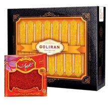 پک زعفران سرگل (ممتاز) یک مثقال و نبات زعفرانی 16 تایی گلیران