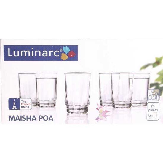 لیوان لومینارک مدل Maisha Poa (بسته 6 عددی)