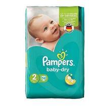 پوشک سایز 2 مدل Baby Dry بسته 58 عددی پمپرز
