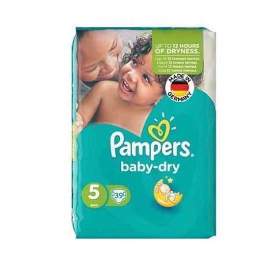 پوشک سایز 5 مدل Baby Dry بسته 39 عددی پمپرز