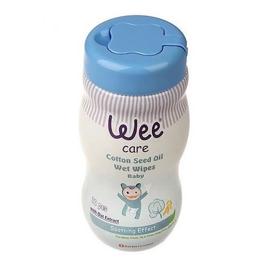 دستمال مرطوب وی Wee مخصوص کودک مدل Cotton seed /بسته 70 عددی