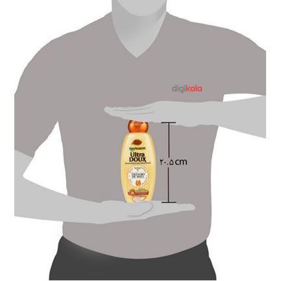 شامپو ترميم کننده و تغذيه کننده مو گارنيه سری Ultra Doux مدل Honey حجم 400 ميلی ليتر