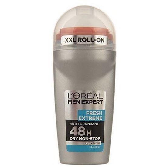 رول ضد تعريق مردانه لورآل سری Men Expert مدل Fresh Extreme 48H حجم 50 ميلی ليتر