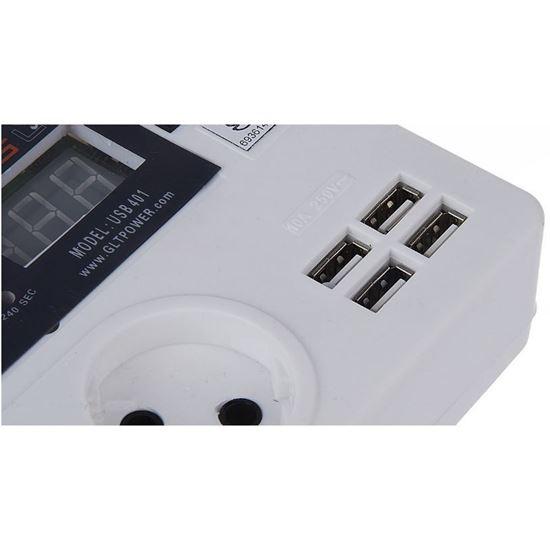 محافظ ولتاژ ديجيتال گلدن لاين مدل USB 401
