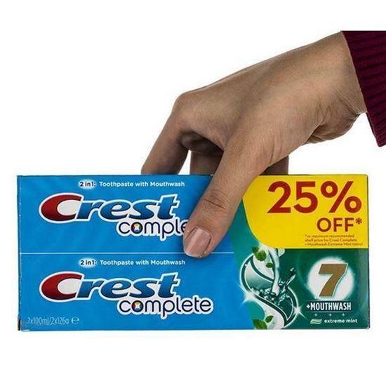 پک خمیر دندان کرست مدل C7 Plus Mouthwash حجم 100 میلی لیتر بسته 2 عددی