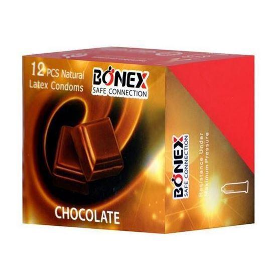 کاندوم بونکس مدل Chocolate بسته 12 عددی