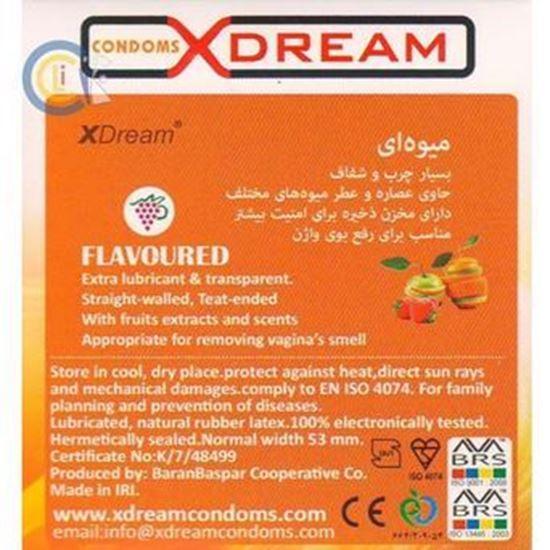 کاندوم ایکس دریم مدل میوه ای بسته 3 عددی XDREAM