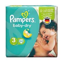 تصویر پوشک سایز 3 مدل Baby dry بسته 30 عددی پمپرز