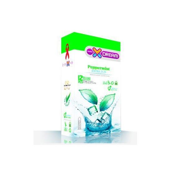کاندوم ایکس دریم مدل Peppermint بسته 12 عددی  XDREAM