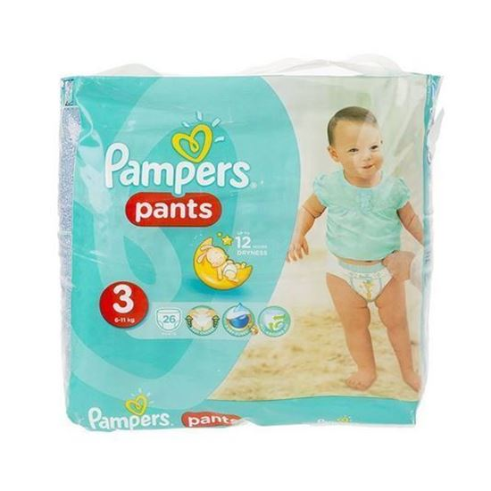 پوشک پمپرز مدل Pants سایز 3 بسته 26 عددی
