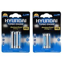 Hyundai Power Alkaline AA And AAA Battery Pack Of 4