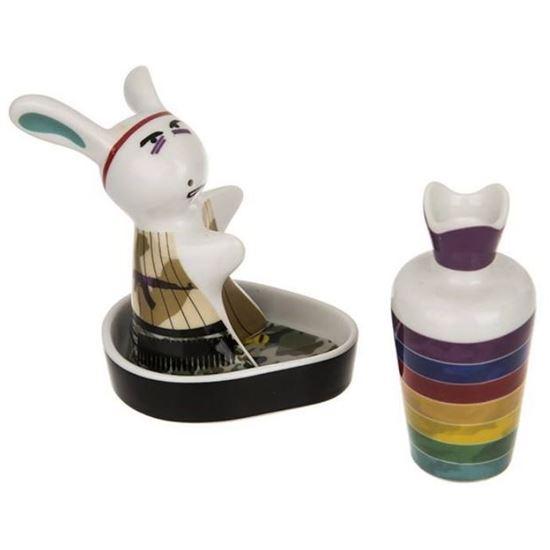سرویس نمک و فلفل Multiplechoice طرح خرگوش عصبانی کد 2088