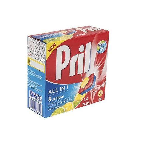 قرص ماشین ظرفشویی پریل مدل All In One بسته 14 عددی