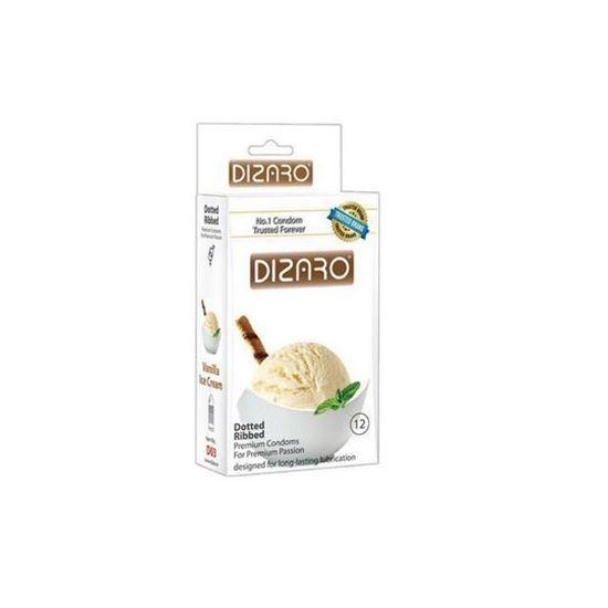 کاندوم خاردار دیزارو مدل Vanilla Ice Cream بسته 12 عددی